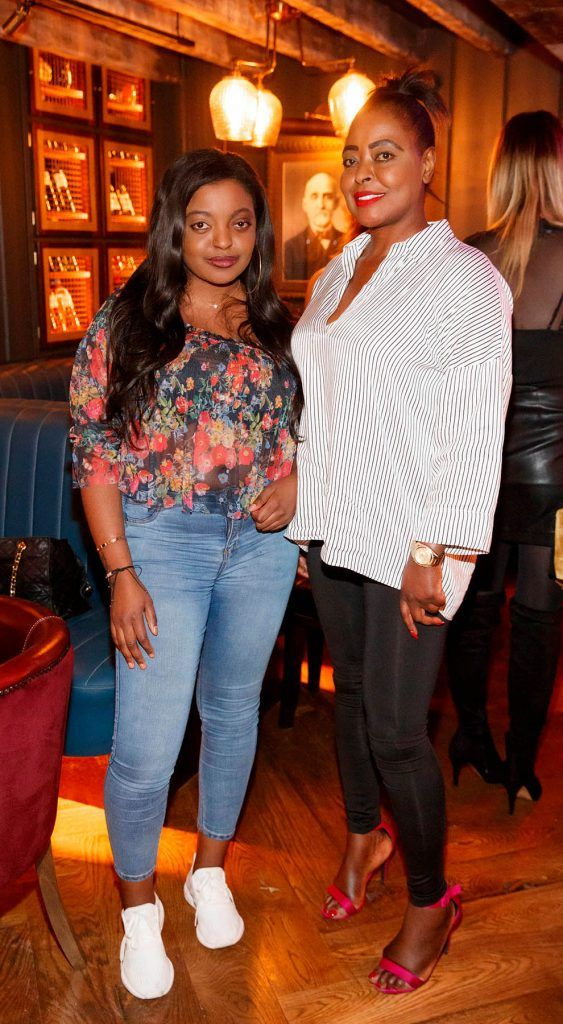 Eunice Eve and Susan Davis at the relaunch of the lounge bar and Boss Crokers snug bar at Sandyford House in Sandyford Village, Dublin 18 (1st February 2018). Picture by Andres Poveda