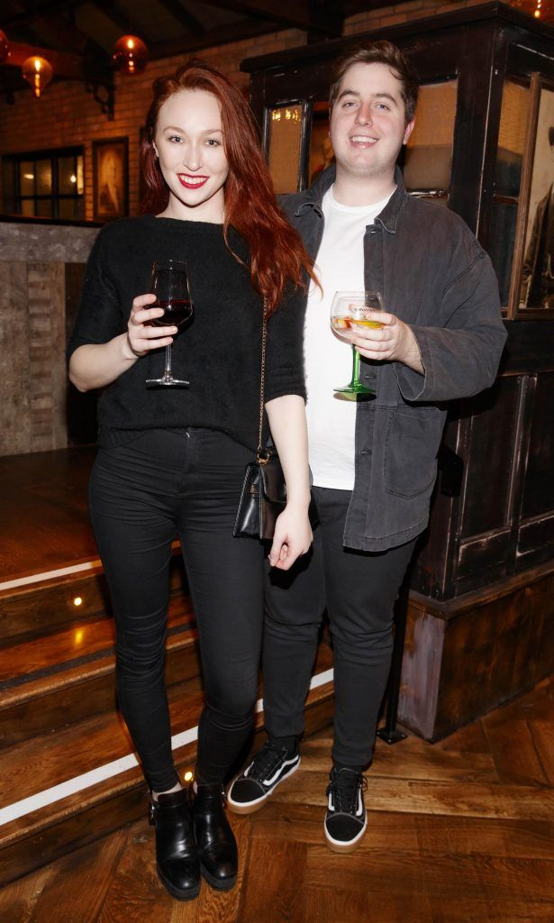 January Russell Winters and James Clarges at the relaunch of the lounge bar and Boss Crokers snug bar at Sandyford House in Sandyford Village, Dublin 18 (1st February 2018). Picture by Andres Poveda