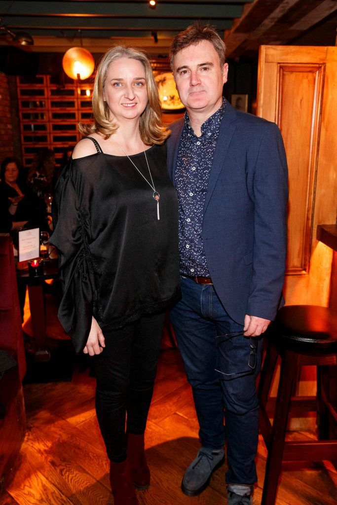 Nora and Dermot McNamara at the relaunch of the lounge bar and Boss Crokers snug bar at Sandyford House in Sandyford Village, Dublin 18 (1st February 2018). Picture by Andres Poveda