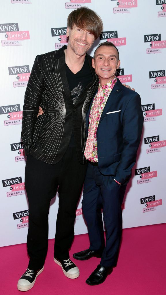Don O Neill and Pascal Guillermie at the inaugural Xpose Benefit Awards that took place in The Mansion House, Dublin to celebrate the best in fashion and entertainment in Ireland. Picture: Brian McEvoy
