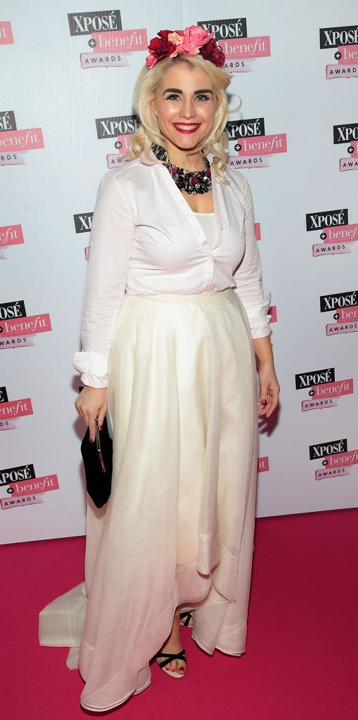Lou Ryan at the inaugural Xpose Benefit Awards that took place in The Mansion House, Dublin to celebrate the best in fashion and entertainment in Ireland. Picture: Brian McEvoy
