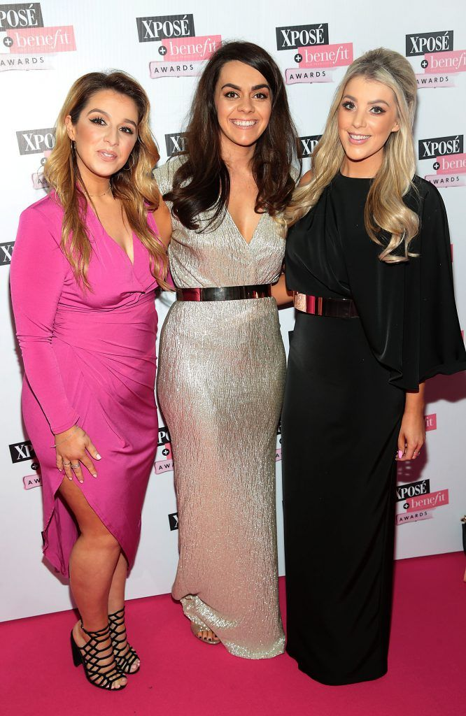 Cianna Robb, Gemma Grant and Elise Hedou at the inaugural Xpose Benefit Awards that took place in The Mansion House, Dublin to celebrate the best in fashion and entertainment in Ireland. Picture: Brian McEvoy