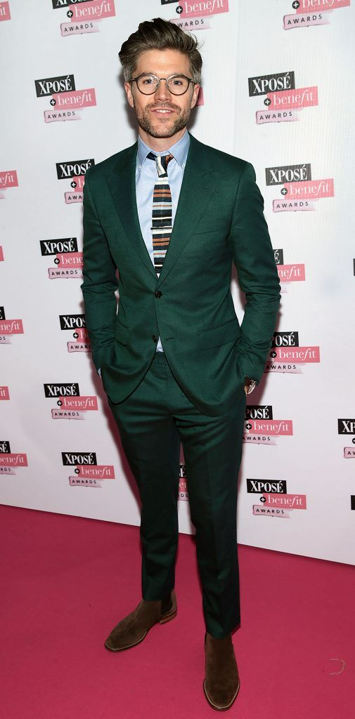 Darren Kennedy at the inaugural Xpose Benefit Awards that took place in The Mansion House, Dublin to celebrate the best in fashion and entertainment in Ireland. Picture: Brian McEvoy