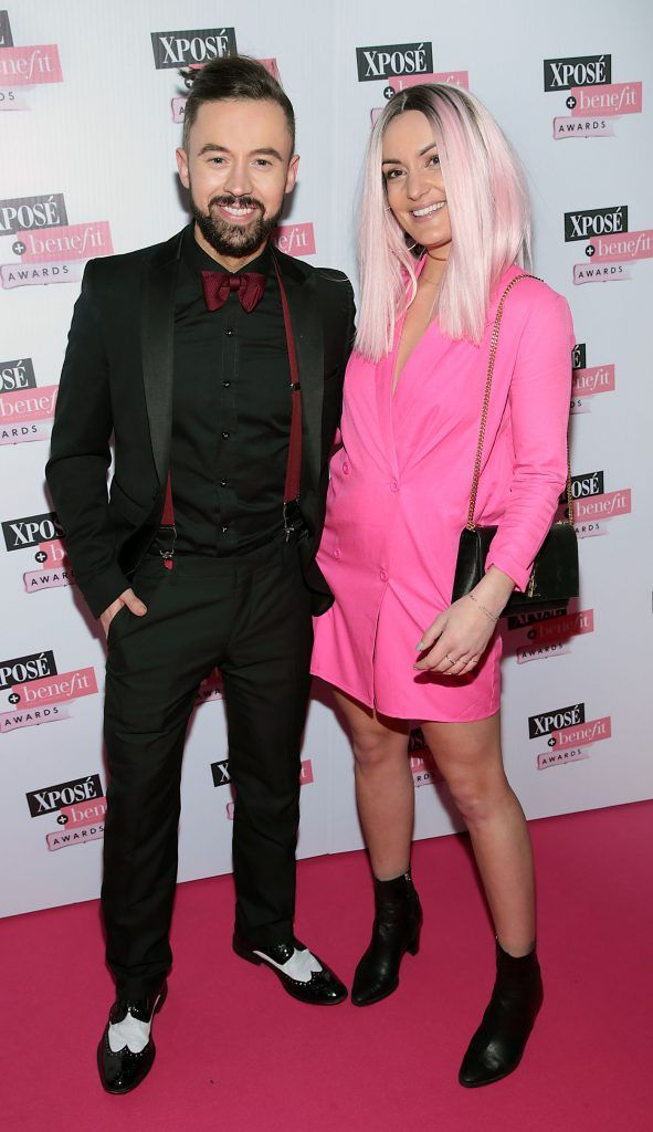 Deric Hartigan and Anouska Proetta at the inaugural Xpose Benefit Awards that took place in The Mansion House, Dublin to celebrate the best in fashion and entertainment in Ireland. Picture: Brian McEvoy