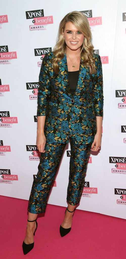Ailbhe Garrihy at the inaugural Xpose Benefit Awards that took place in The Mansion House, Dublin to celebrate the best in fashion and entertainment in Ireland. Picture: Brian McEvoy