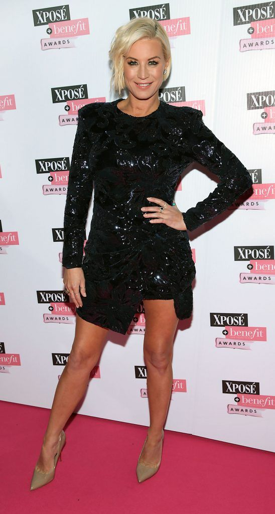 Denise Van Outen at the inaugural Xpose Benefit Awards that took place in The Mansion House, Dublin to celebrate the best in fashion and entertainment in Ireland. Picture: Brian McEvoy