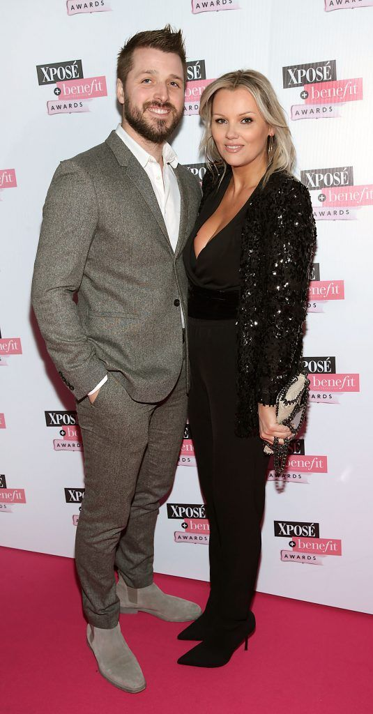 Kevin Cronin and Paula Callan at the inaugural Xpose Benefit Awards that took place in The Mansion House, Dublin to celebrate the best in fashion and entertainment in Ireland. Picture: Brian McEvoy
