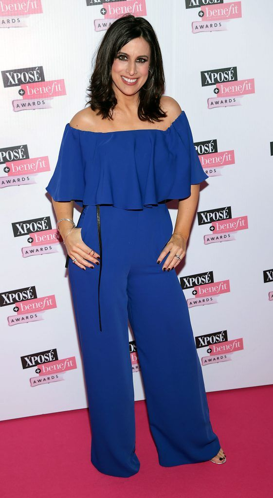 Lucy Kennedy at the inaugural Xpose Benefit Awards that took place in The Mansion House, Dublin to celebrate the best in fashion and entertainment in Ireland. Picture: Brian McEvoy