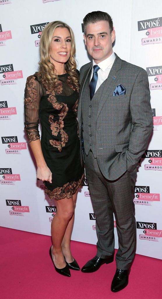 Eibhin Euston and Garret Bridgeman at the inaugural Xpose Benefit Awards that took place in The Mansion House, Dublin to celebrate the best in fashion and entertainment in Ireland. Picture: Brian McEvoy
