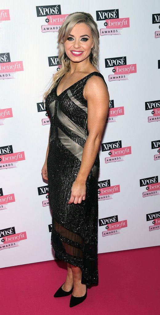 Anna Geary at the inaugural Xpose Benefit Awards that took place in The Mansion House, Dublin to celebrate the best in fashion and entertainment in Ireland. Picture: Brian McEvoy