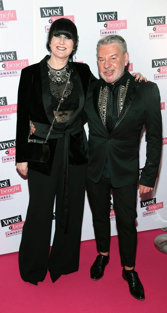 Alison Boo and Michael Doyle at the inaugural Xpose Benefit Awards that took place in The Mansion House, Dublin to celebrate the best in fashion and entertainment in Ireland. Picture: Brian McEvoy