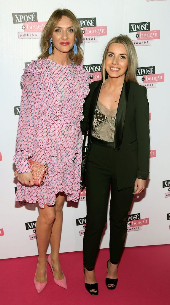 Ingrid Hoey and Emily Gallagher at the inaugural Xpose Benefit Awards that took place in The Mansion House, Dublin to celebrate the best in fashion and entertainment in Ireland. Picture: Brian McEvoy