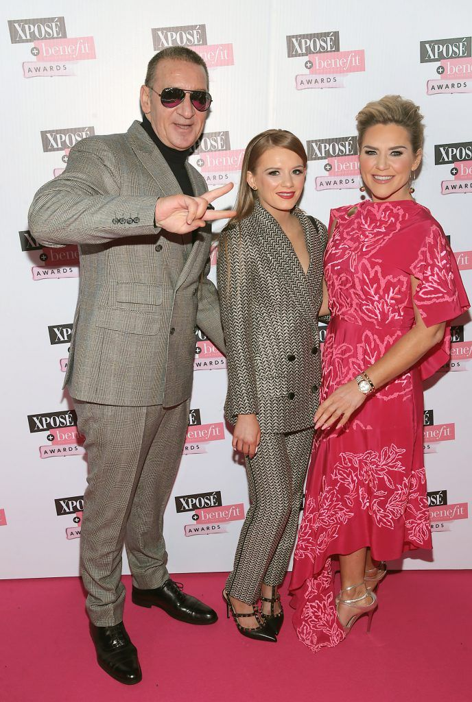Erin McGregor with daughter Taylor and father Tony McGregor at the inaugural Xpose Benefit Awards that took place in The Mansion House, Dublin to celebrate the best in fashion and entertainment in Ireland. Picture: Brian McEvoy