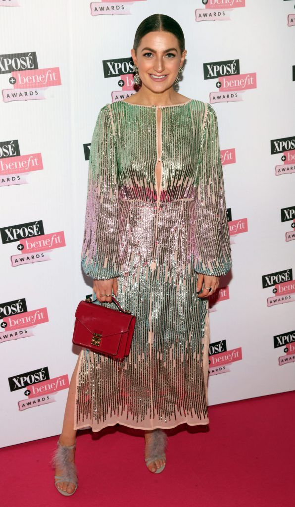 Courtney Smith at the inaugural Xpose Benefit Awards that took place in The Mansion House, Dublin to celebrate the best in fashion and entertainment in Ireland. Picture: Brian McEvoy