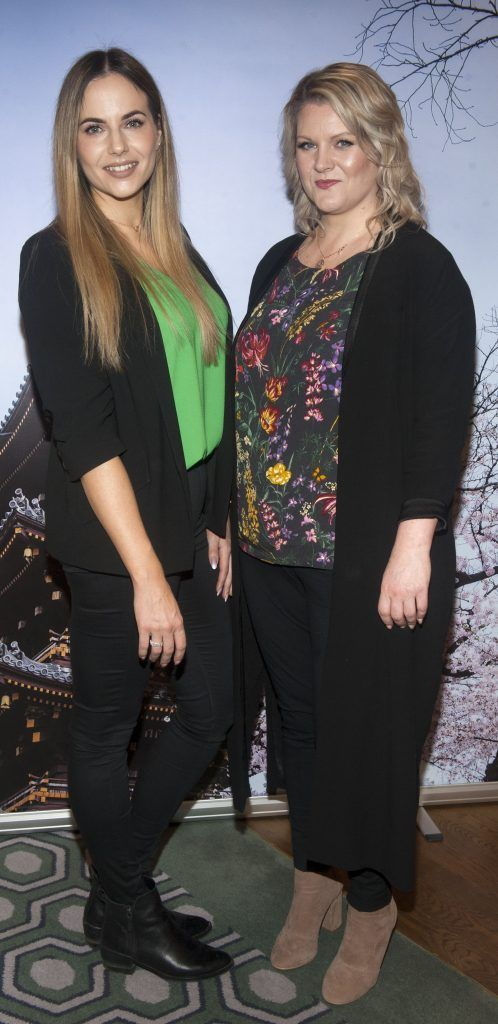 Asta Jurksaite and Dee Buckley pictured at Gok Wan and Danielle Mahon's launch of their Fashion and Beauty Collective roadshows in the Westbury Hotel, Dublin. Photo: Patrick O'Leary
