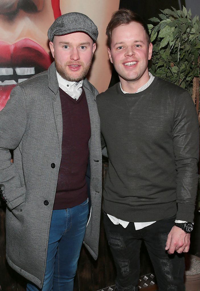 Dan Harlen and Jack Herbert pictured at the opening of new entertainment venue R.I.O.T in Aston Quay, Dublin. Photo by Brian McEvoy