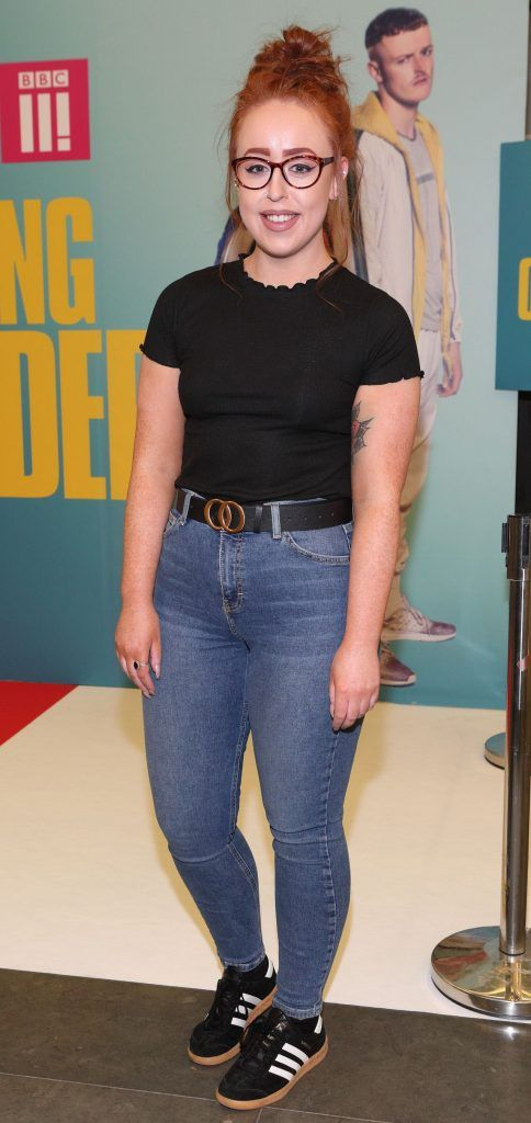 Tara Brennan at the launch of the new Young Offenders television series at the ODEON Cinema in Point Square, Dublin. 'The Young Offenders' debuts on RTE2 on Thursday 8th February at 9.30pm. Photo by Morris Wall