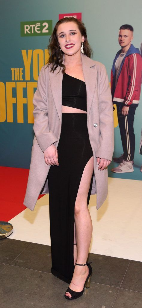 Laura Reddington   at the launch of the new Young Offenders television series at the ODEON Cinema in Point Square, Dublin. 'The Young Offenders' debuts on RTE2 on Thursday 8th February at 9.30pm. Photo by Morris Wall