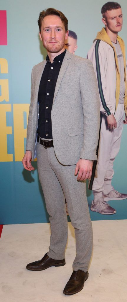 Dominic MacHale  at the launch of the new Young Offenders television series at the ODEON Cinema in Point Square, Dublin. 'The Young Offenders' debuts on RTE2 on Thursday 8th February at 9.30pm. Photo by Morris Wall