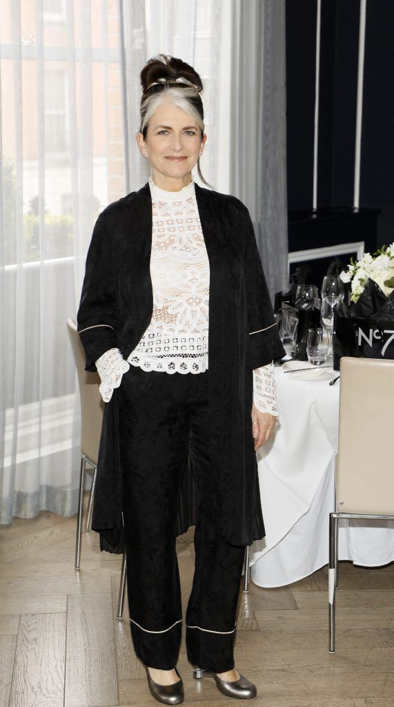 Cathy O'Connor at the launch of No7 Laboratories and No7 Laboratories Line Correcting Booster Serum at 25 Fitzwilliam Place. Photo Kieran Harnett