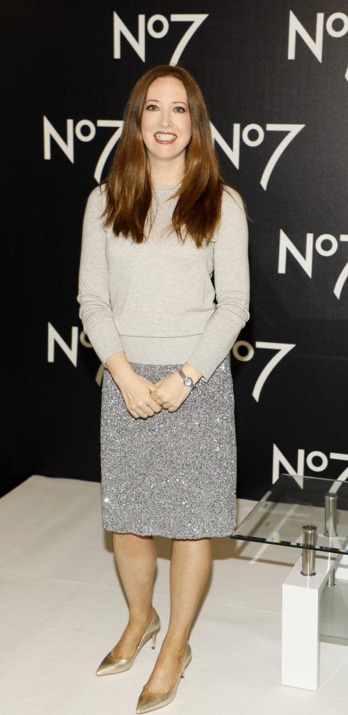 Gillian Hennessy at the launch of No7 Laboratories and No7 Laboratories Line Correcting Booster Serum at 25 Fitzwilliam Place. Photo Kieran Harnett