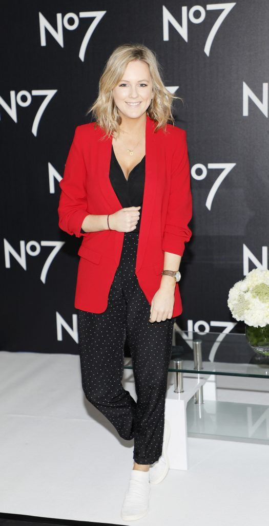 Cassie Stokes at the launch of No7 Laboratories and No7 Laboratories Line Correcting Booster Serum at 25 Fitzwilliam Place. Photo Kieran Harnett