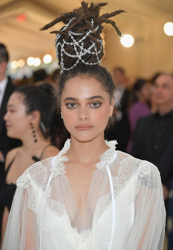 NEW YORK, NY - MAY 07:  Sasha Lane attends the Heavenly Bodies: Fashion & The Catholic Imagination Costume Institute Gala at The Metropolitan Museum of Art on May 7, 2018 in New York City.  (Photo by Neilson Barnard/Getty Images)