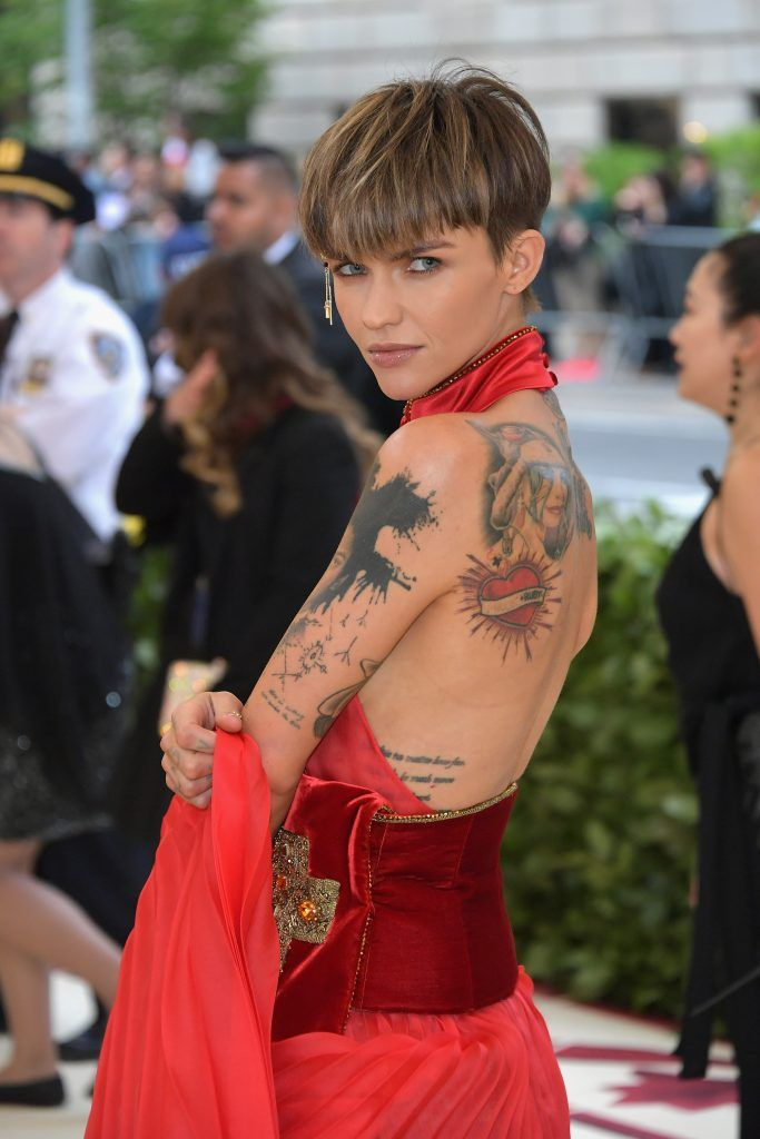 NEW YORK, NY - MAY 07:  Ruby Rose attends the Heavenly Bodies: Fashion & The Catholic Imagination Costume Institute Gala at The Metropolitan Museum of Art on May 7, 2018 in New York City.  (Photo by Neilson Barnard/Getty Images)