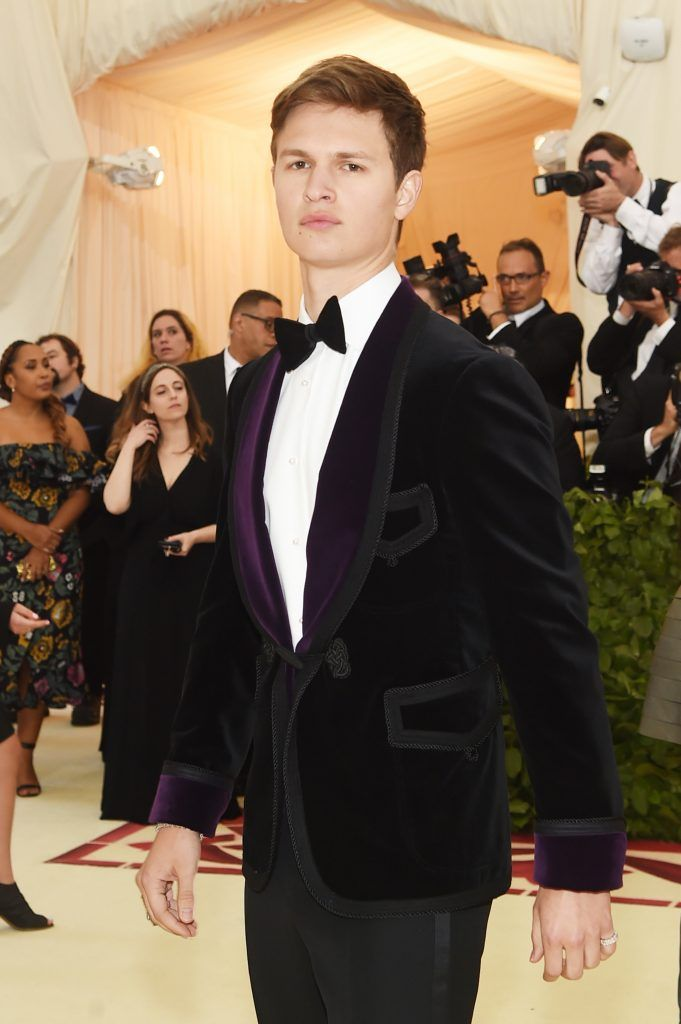 NEW YORK, NY - MAY 07:  Ansel Elgort attends the Heavenly Bodies: Fashion & The Catholic Imagination Costume Institute Gala at The Metropolitan Museum of Art on May 7, 2018 in New York City.  (Photo by Jamie McCarthy/Getty Images)
