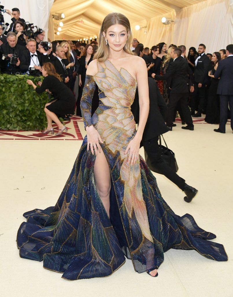 NEW YORK, NY - MAY 07:  Gigi Hadid attends the Heavenly Bodies: Fashion & The Catholic Imagination Costume Institute Gala at The Metropolitan Museum of Art on May 7, 2018 in New York City.  (Photo by Neilson Barnard/Getty Images)