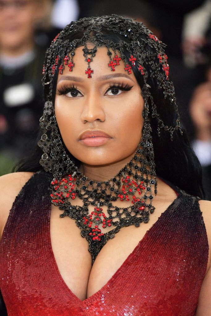 NEW YORK, NY - MAY 07:  Nicki Minaj attends the Heavenly Bodies: Fashion & The Catholic Imagination Costume Institute Gala at The Metropolitan Museum of Art on May 7, 2018 in New York City.  (Photo by Neilson Barnard/Getty Images)