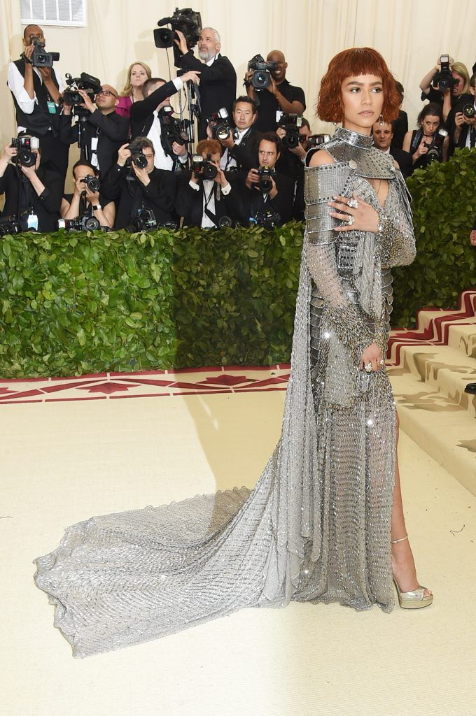 NEW YORK, NY - MAY 07:  Zendaya attends the Heavenly Bodies: Fashion & The Catholic Imagination Costume Institute Gala at The Metropolitan Museum of Art on May 7, 2018 in New York City.  (Photo by Jamie McCarthy/Getty Images)