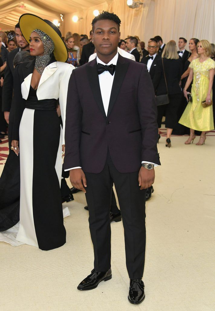 NEW YORK, NY - MAY 07:  John Boyega attends the Heavenly Bodies: Fashion & The Catholic Imagination Costume Institute Gala at The Metropolitan Museum of Art on May 7, 2018 in New York City.  (Photo by Neilson Barnard/Getty Images)