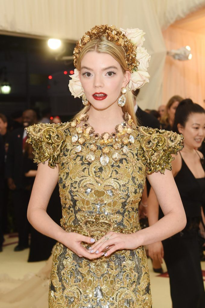 NEW YORK, NY - MAY 07:  Anya Taylor-Joy attends the Heavenly Bodies: Fashion & The Catholic Imagination Costume Institute Gala at The Metropolitan Museum of Art on May 7, 2018 in New York City.  (Photo by Jamie McCarthy/Getty Images)