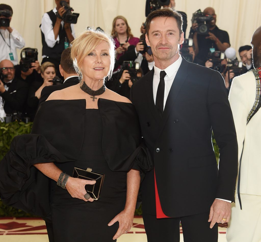 NEW YORK, NY - MAY 07:  Deborra-lee Furness and Hugh Jackman attend the Heavenly Bodies: Fashion & The Catholic Imagination Costume Institute Gala at The Metropolitan Museum of Art on May 7, 2018 in New York City.  (Photo by Jamie McCarthy/Getty Images)