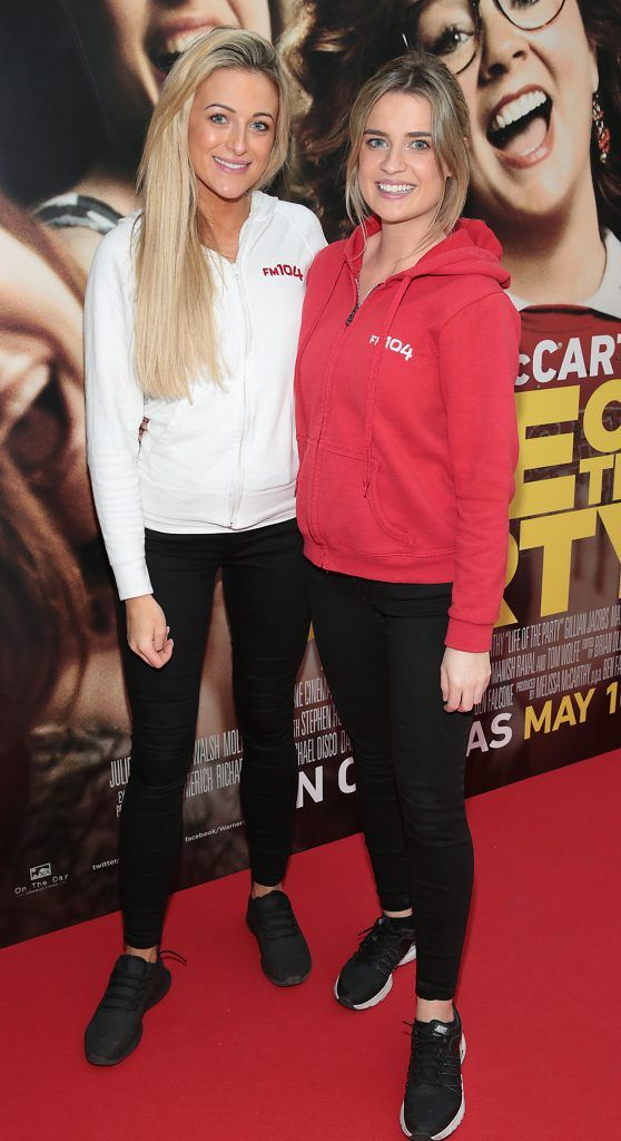 Sophie Cosgrave and Emma Bigger at the special preview screening of Life of the Party at Omniplex Cinema in Rathmines, Dublin. Picture by Brian McEvoy
