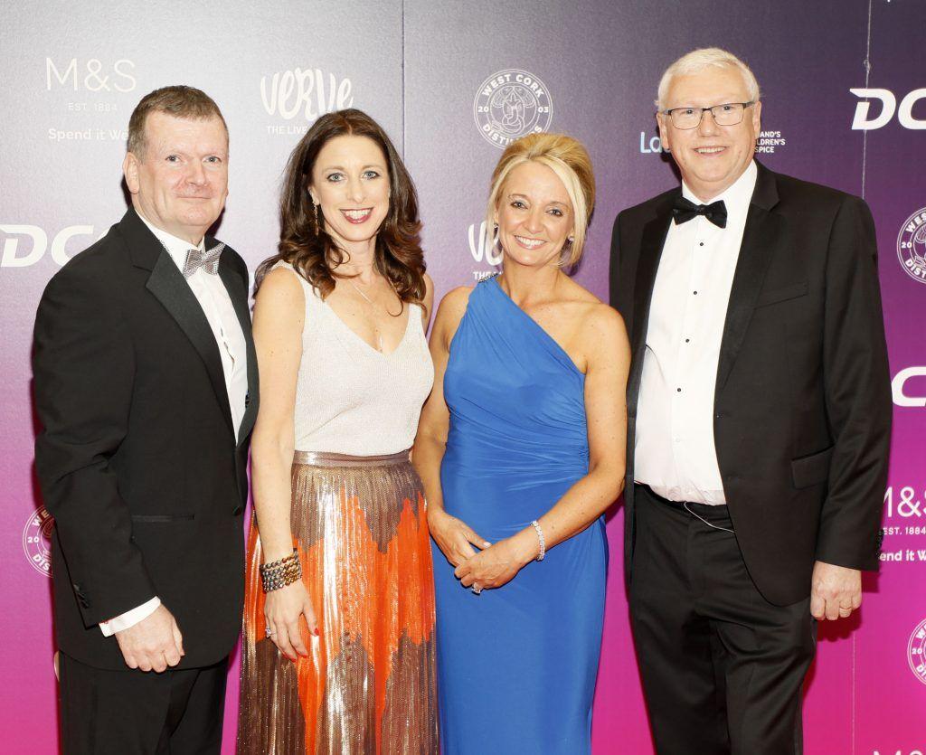 Niall McHugh, Angie Kinane, Orla O'Brien and Tony McPoland at the third annual LauraLynn Heroes Ball at Dublin's InterContinental Hotel, May 12th 2018. Photo: Kieran Harnett