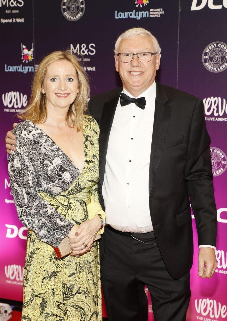 Aldagh McDonagh and Tony Mc Poland at the third annual LauraLynn Heroes Ball at Dublin's InterContinental Hotel, May 12th 2018. Photo: Kieran Harnett