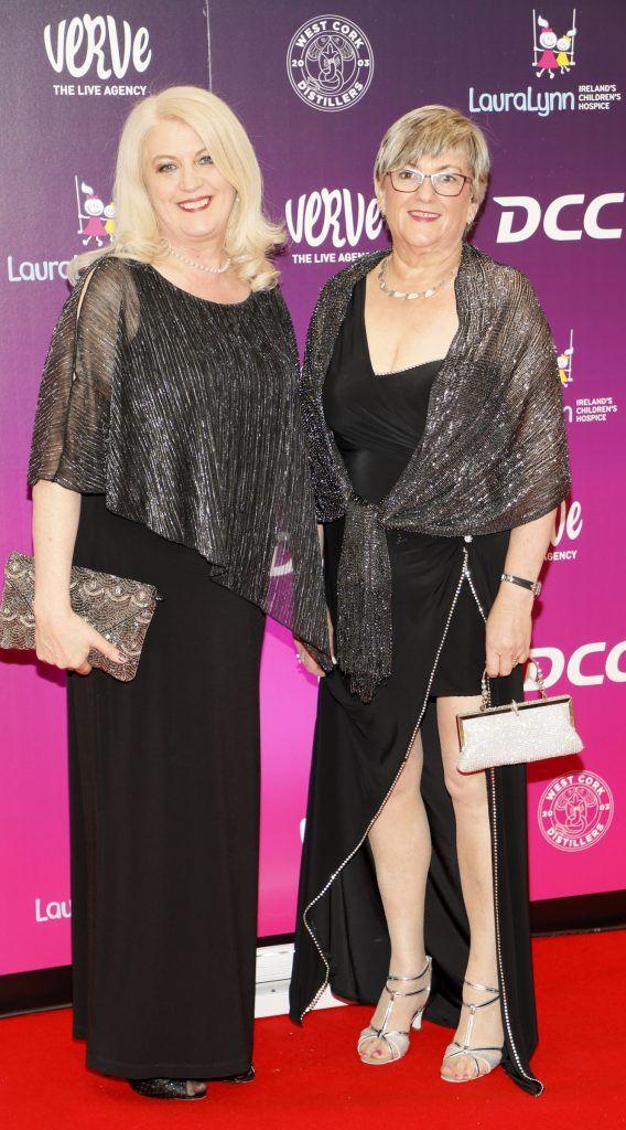 Ann Cooney and Carmel Shiel at the third annual LauraLynn Heroes Ball at Dublin's InterContinental Hotel, May 12th 2018. Photo: Kieran Harnett