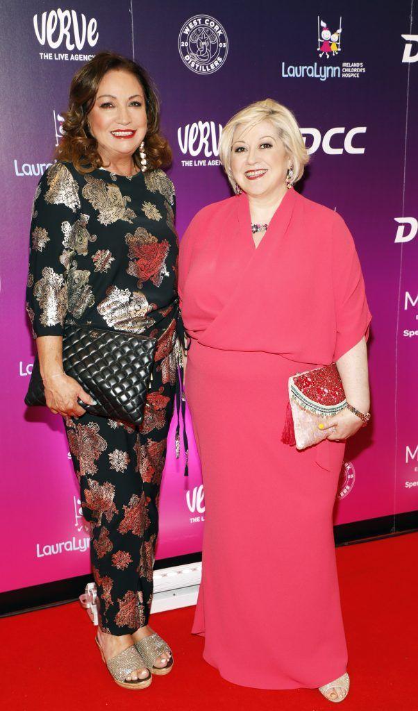 Norah Casey and Carmel Breheny at the third annual LauraLynn Heroes Ball at Dublin's InterContinental Hotel, May 12th 2018. Photo: Kieran Harnett