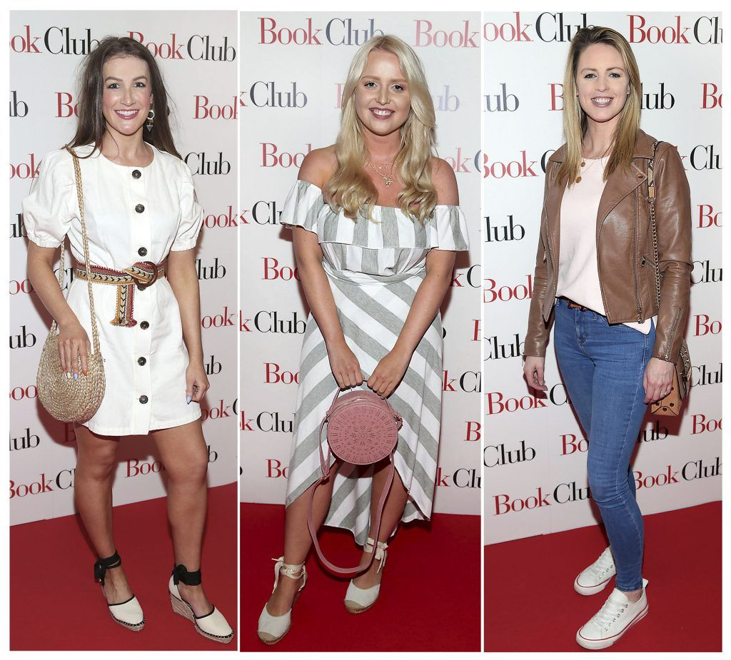 Rebecca Rose Quigley, Laura Mullett and Neasa Henry pictured at the special preview screening of Book Club in Movies at Dundrum, Dublin. Photo by Brian McEvoy