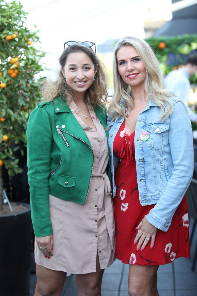 Nirina Plunkett and Jules Mahon pictured as Aperol Spritz, Italy's favourite aperitif, unveiled a new home in Dublin, Terrazza Aperol at Sophie's. Photo by Julien Behal