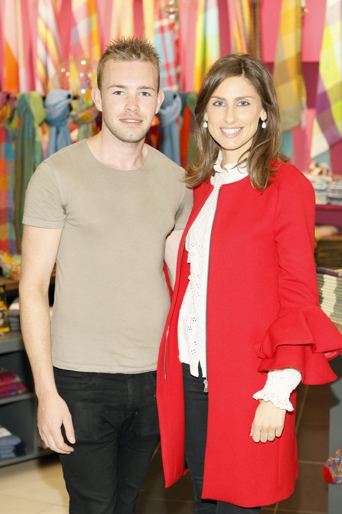 Liam King and Ciara O'Connell at the official opening of AVOCA in Terminal 2 at Dublin Airport. Photo Kieran Harnett