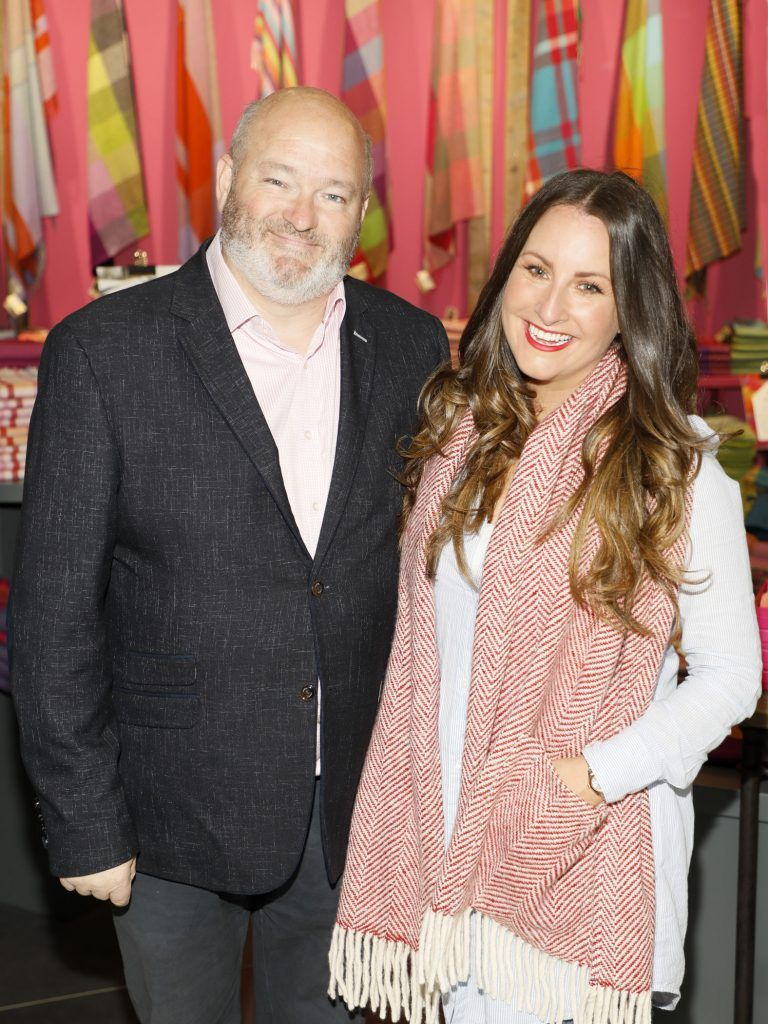 Paul O'Kane and Maoliosa Connell at the official opening of AVOCA in Terminal 2 at Dublin Airport. Photo Kieran Harnett