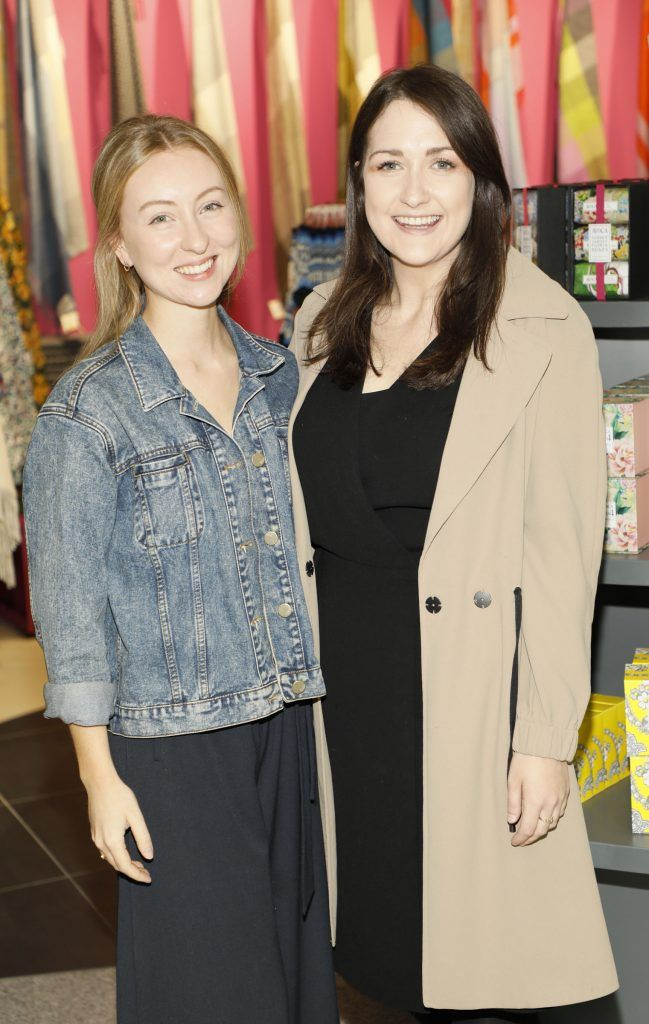 Caroline Cruikshank and Aoife Brennan O'Dwyer at the official opening of AVOCA in Terminal 2 at Dublin Airport. Photo Kieran Harnett