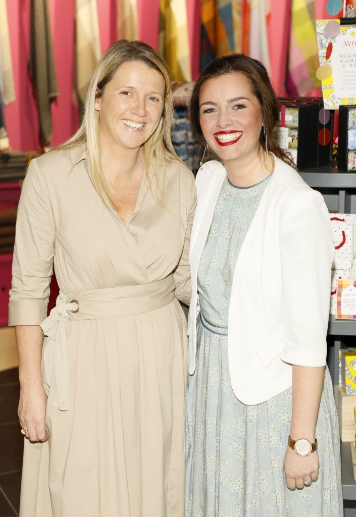 Tara O'Neill and Michelle Carton at the official opening of AVOCA in Terminal 2 at Dublin Airport. Photo Kieran Harnett