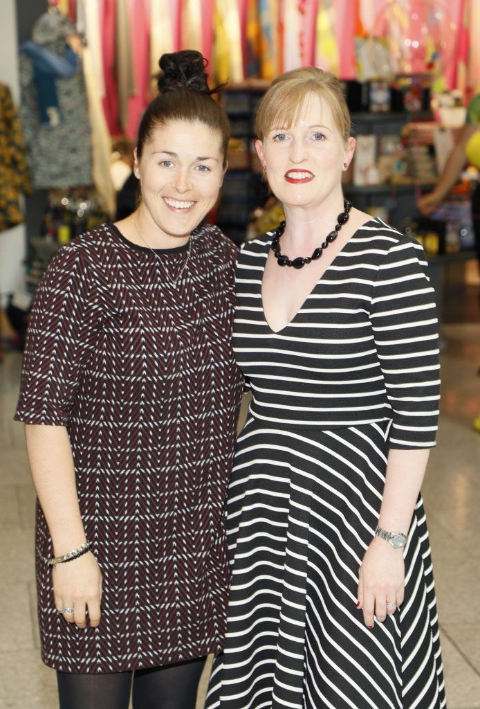 Una Fitzmaurice and Emily Murphy at the official opening of AVOCA in Terminal 2 at Dublin Airport. Photo Kieran Harnett