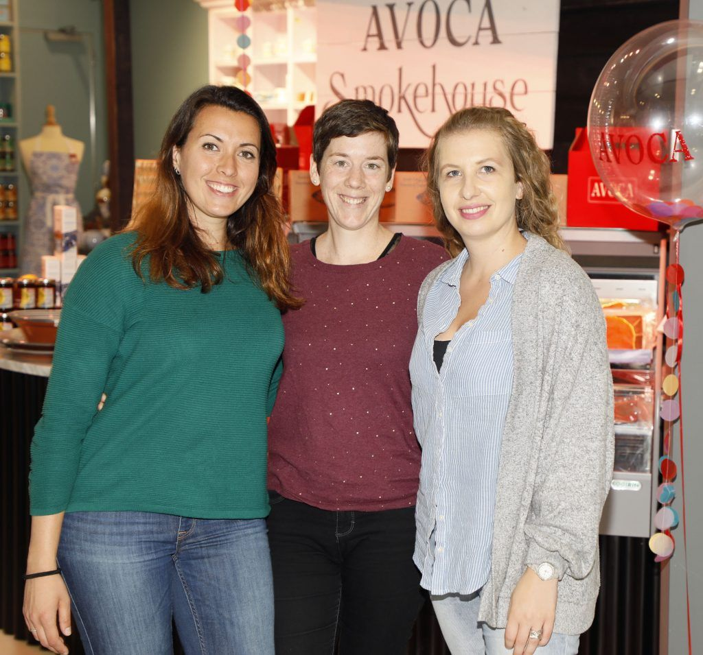 Claire Savoret, Geraldine Chavet and Sarah Girardin  at the official opening of AVOCA in Terminal 2 at Dublin Airport. Photo Kieran Harnett