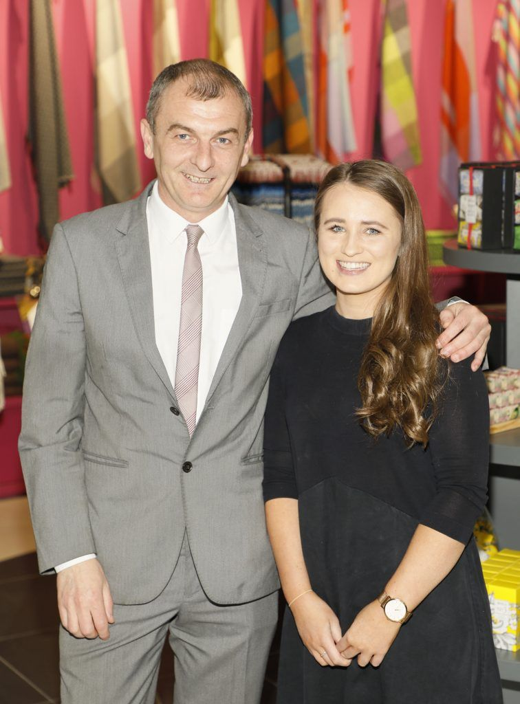 Ian Bossonet and Claire Breathnach at the official opening of AVOCA in Terminal 2 at Dublin Airport. Photo Kieran Harnett