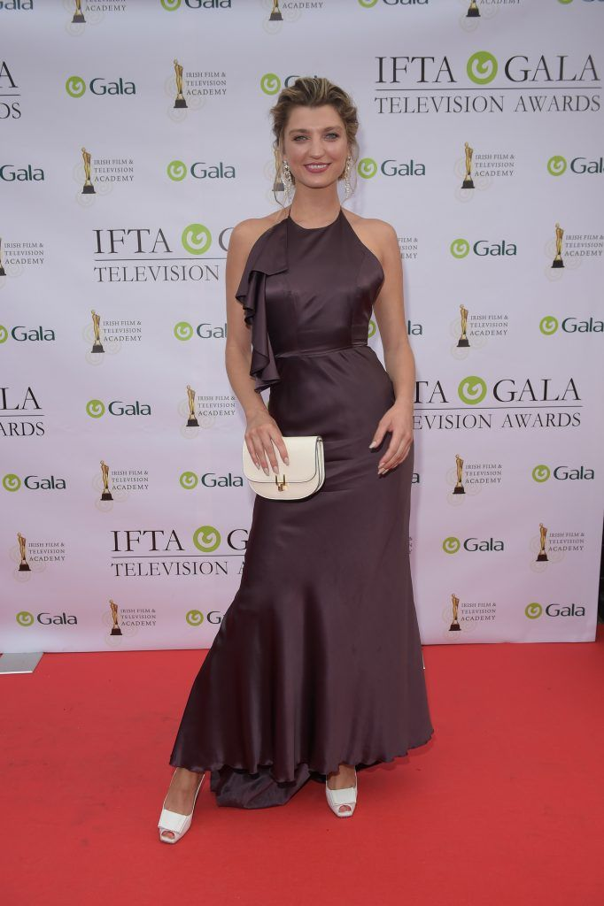 Alannah Beirne arriving on the red carpet for the IFTA Gala Television Awards 2018 at the RDS. Photo by Michael Chester